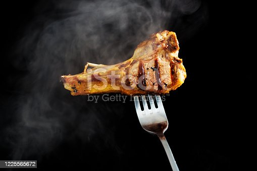 Delicious freshly grilled lamb chop.