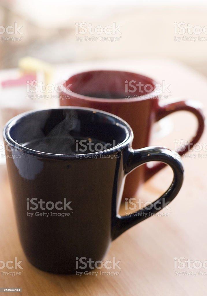 Para Hot Cup o'Joe zbiór zdjęć royalty-free