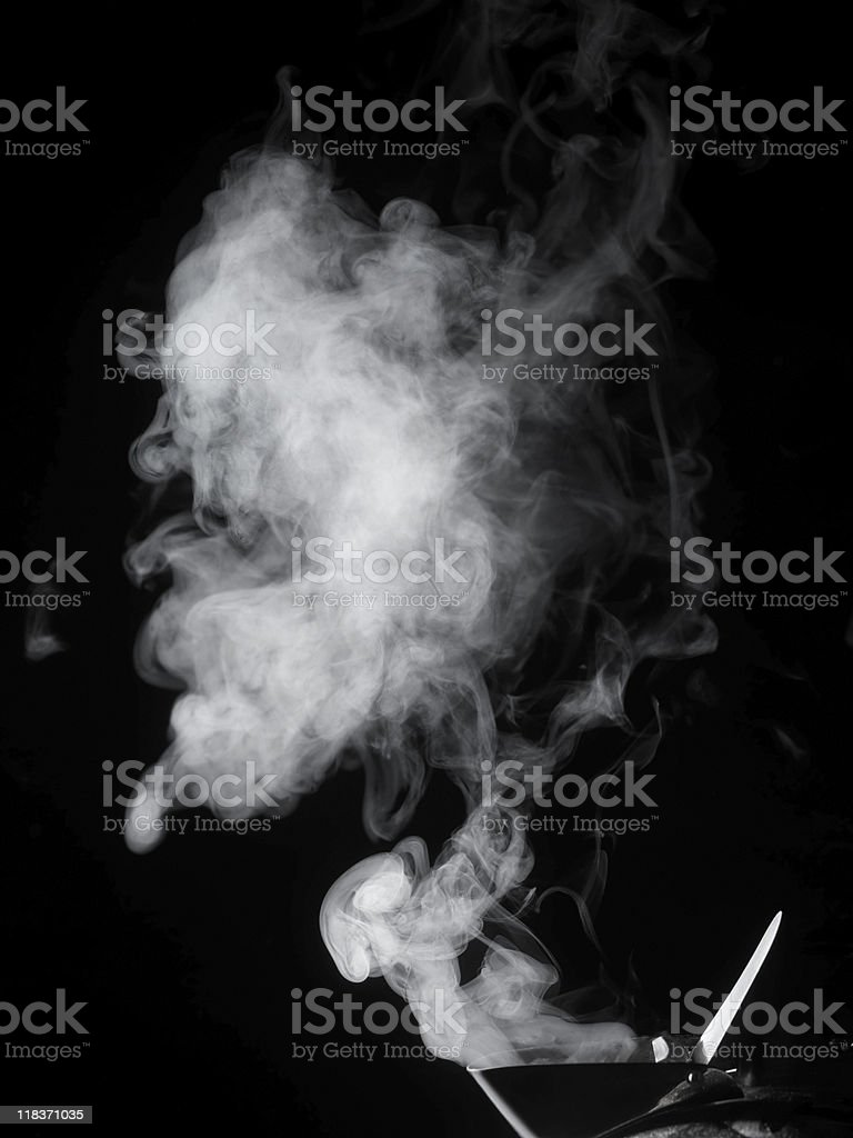 Steaming Kettle stock photo