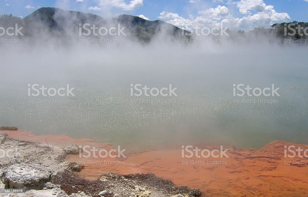 Steaming Lake royalty-free stock photo
