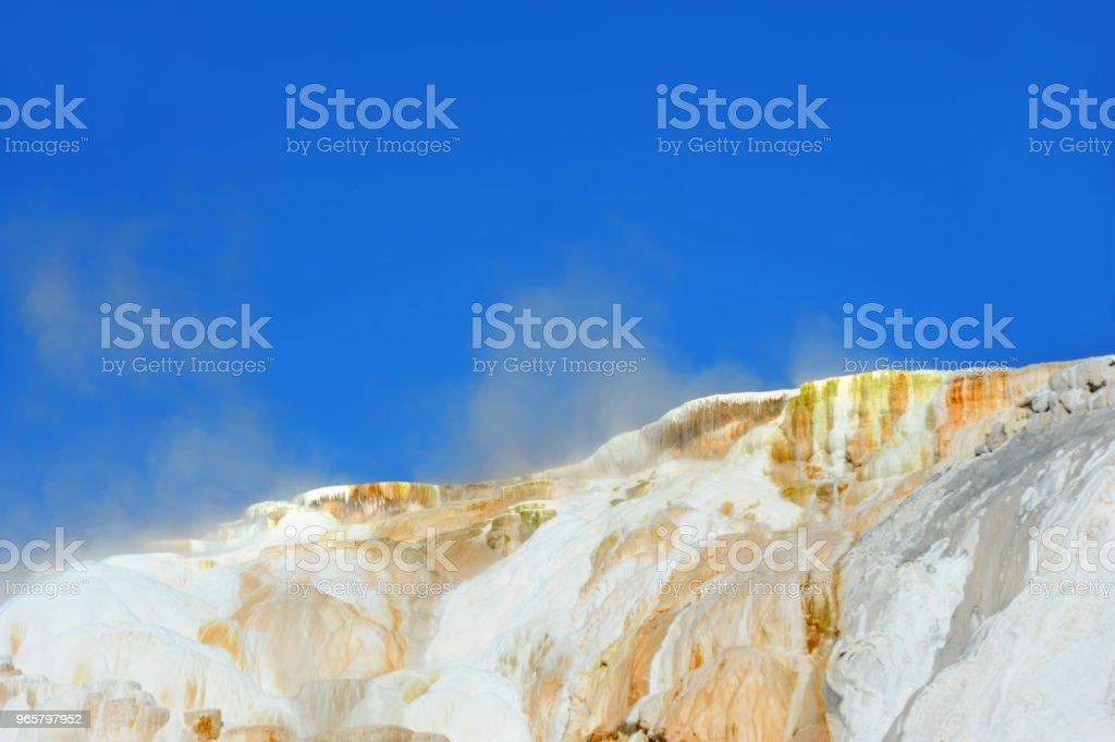 Steaming Mounds - Royalty-free  Fonte termal Mammoth Foto de stock