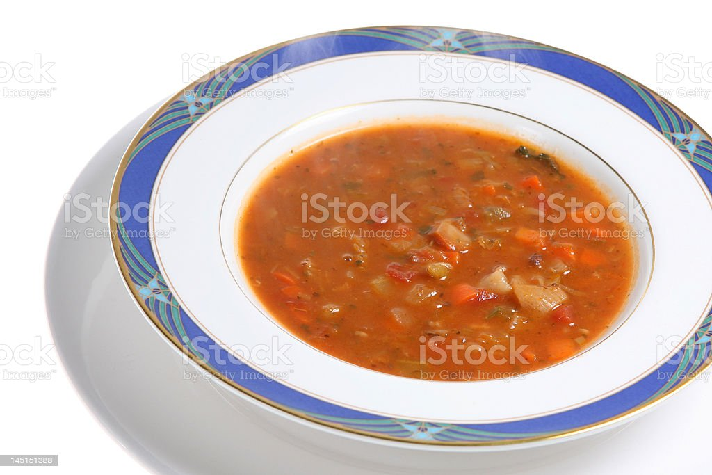 Steaming Soup royalty-free stock photo
