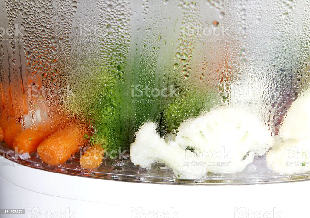 Steaming Vegetables stock photo