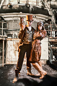 istock Steampunk Bonnie and Clyde 500879908