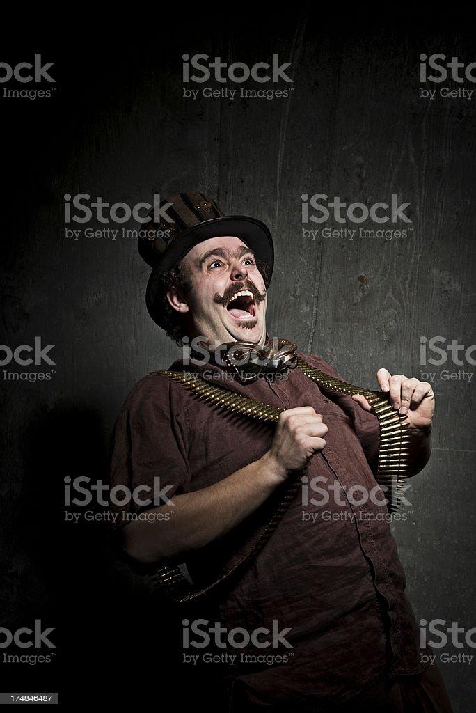 Steampunk Crazy Man royalty-free stock photo