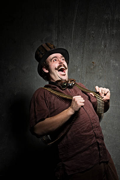 steampunk crazy - steampunk fashion stock photos and pictures