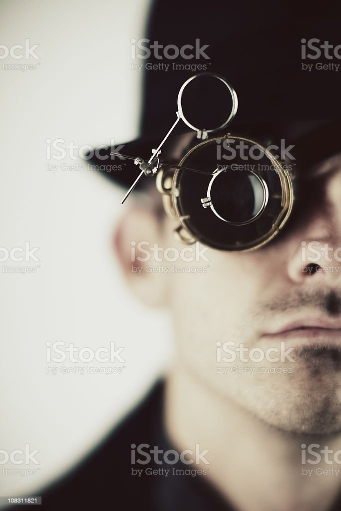 Steampunk Detective stock photo