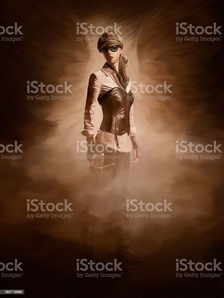 Steampunk digital painting stock photo