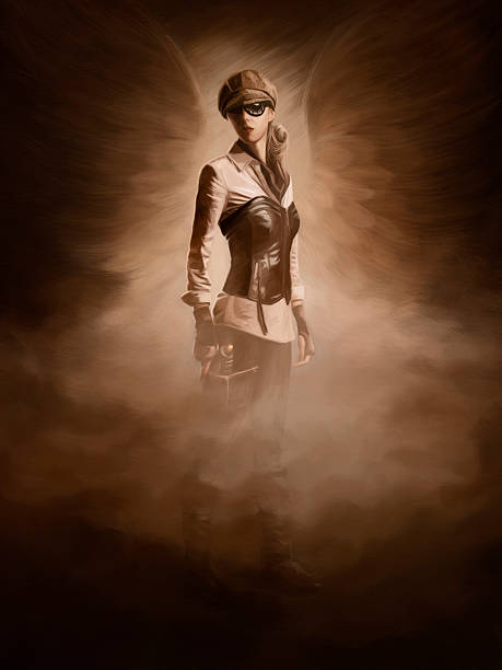 steampunk digital painting - steampunk stock photos and pictures