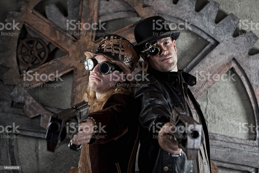 Steampunk Duo stock photo
