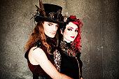 istock Steampunk Fashion Couple 155134196