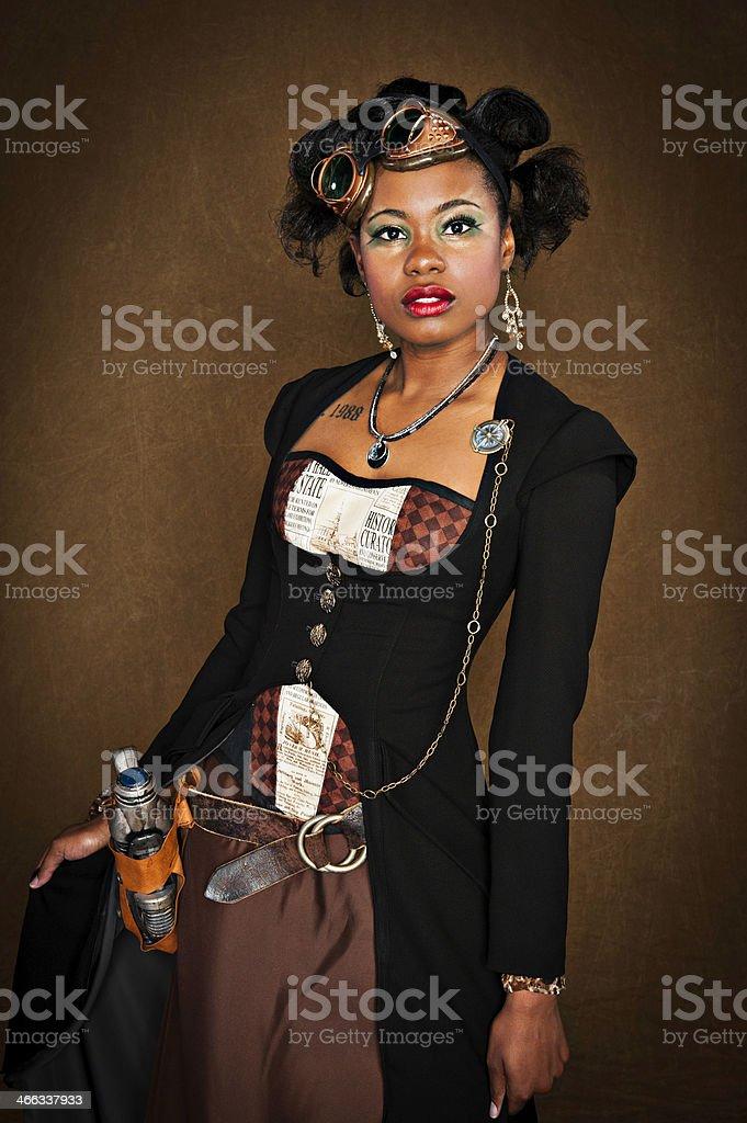 Steampunk Female stock photo