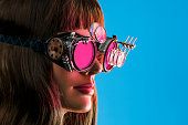 istock Steampunk Future Vision Girl 537477064