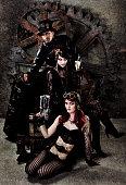 istock Steampunk Gang Portrait 143918491