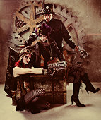 istock Steampunk Gang Portrait 143918496