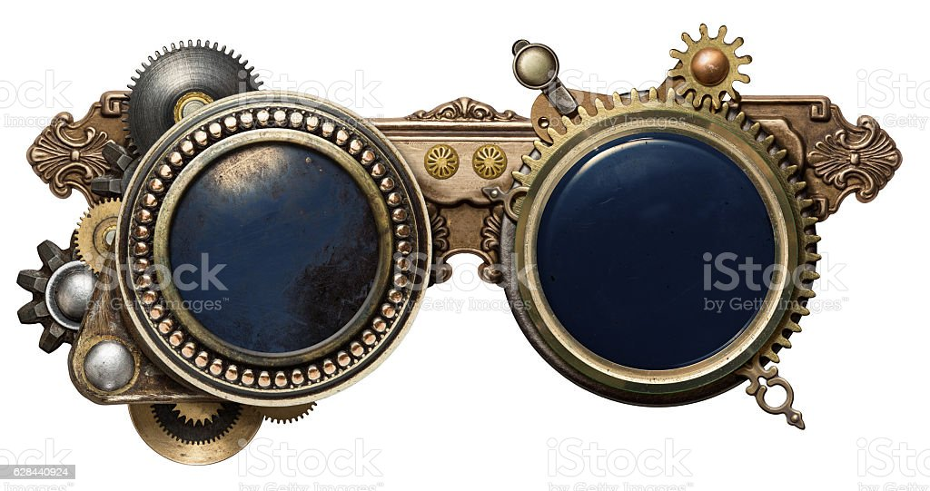 Steampunk glasses stock photo