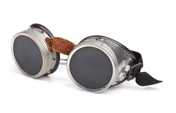 Steampunk goggles Steampunk goggles isolated on white ski goggles stock pictures, royalty-free photos & images
