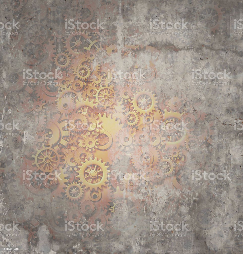Steampunk Grunge Background stock photo