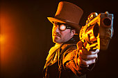 istock Steampunk Gunslinger 499806118