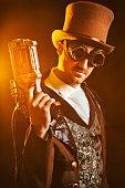 istock Steampunk Gunslinger 499806170