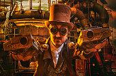 istock Steampunk Gunslinger 499806330