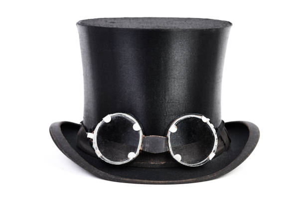 steampunk hat - steampunk fashion stock photos and pictures