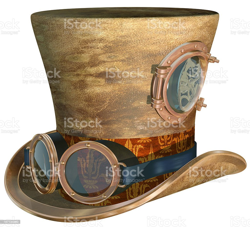 Steampunk Hat and Goggles stock photo