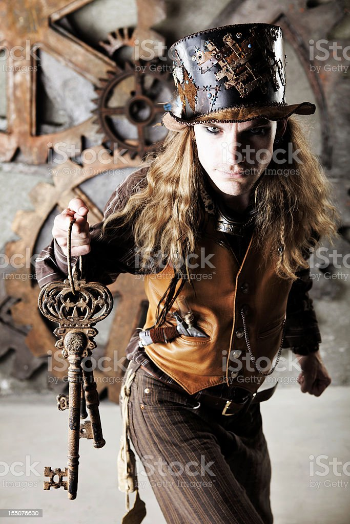 Steampunk Keymaster stock photo