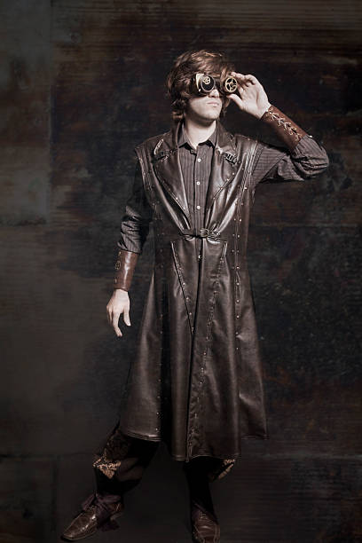 steampunk model - steampunk fashion stock photos and pictures