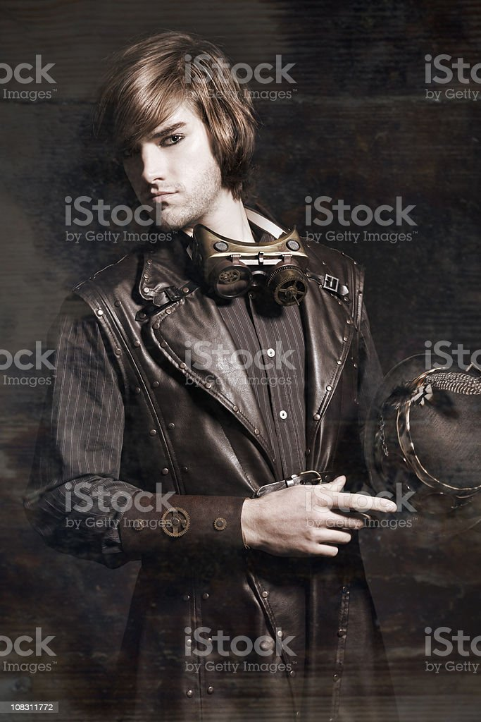 Steampunk Model stock photo