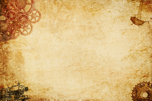 A basic minal pape steampunk back ground and texture.