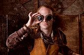 istock Steampunk Portrait 471323791