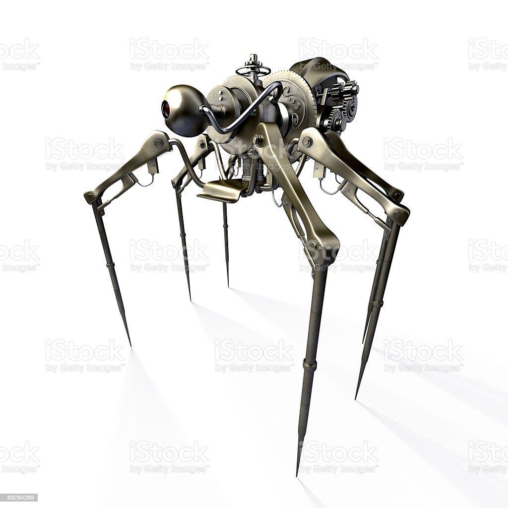 Steampunk spider - spy royalty-free stock photo