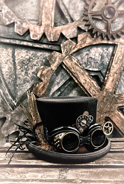 steampunk still life - steampunk fashion stock photos and pictures