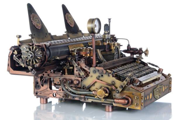 Steampunk der Typewriter. – Foto