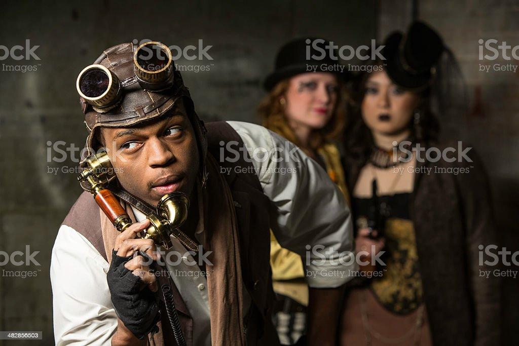 Steampunk Trio - Foto de stock de Abrigo libre de derechos