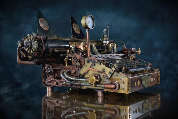 Steampunk Typewriter. – Foto