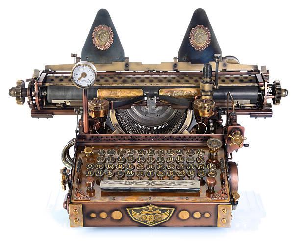 Steampunk Schreibmaschine. – Foto