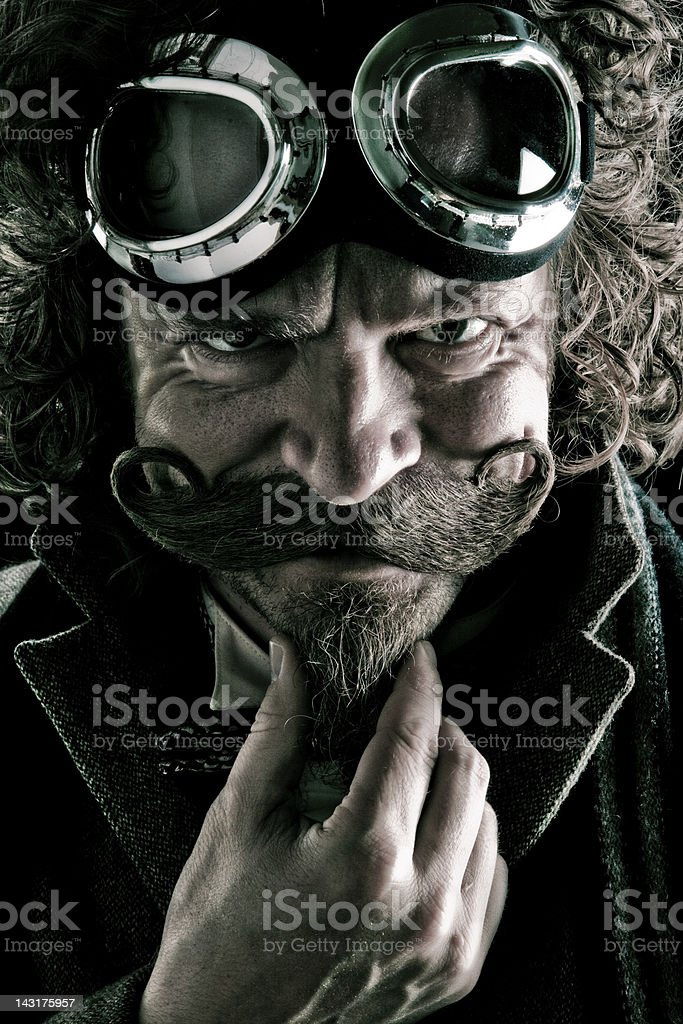 Steampunk Villain stock photo