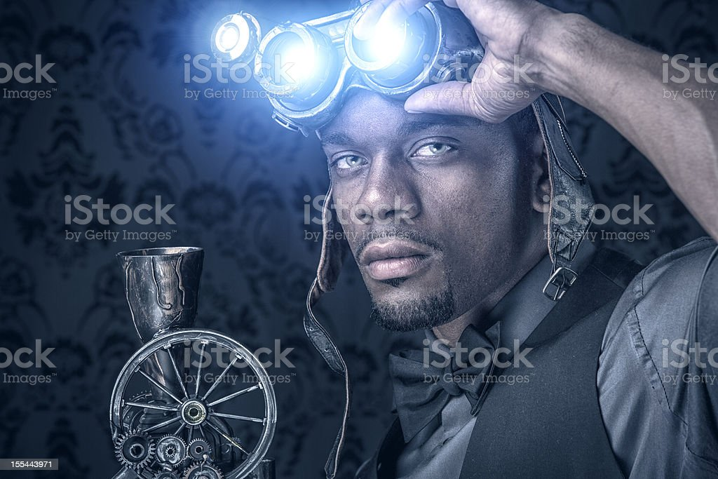 Steampunk Xray Vision Warrior stock photo