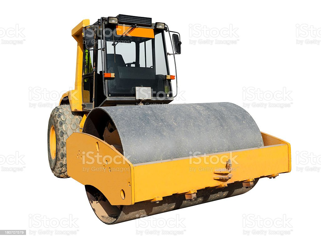 Steamroller royalty-free stock photo