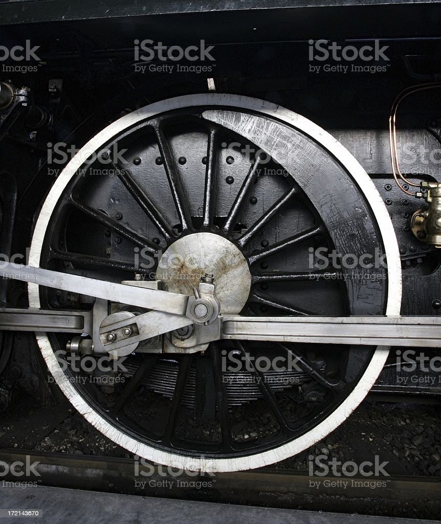 steamtrain wheel royalty-free stock photo