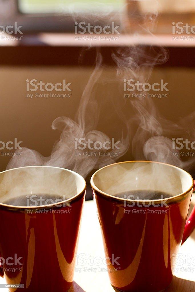 Steamy Coffee Mugs (XXL) stock photo