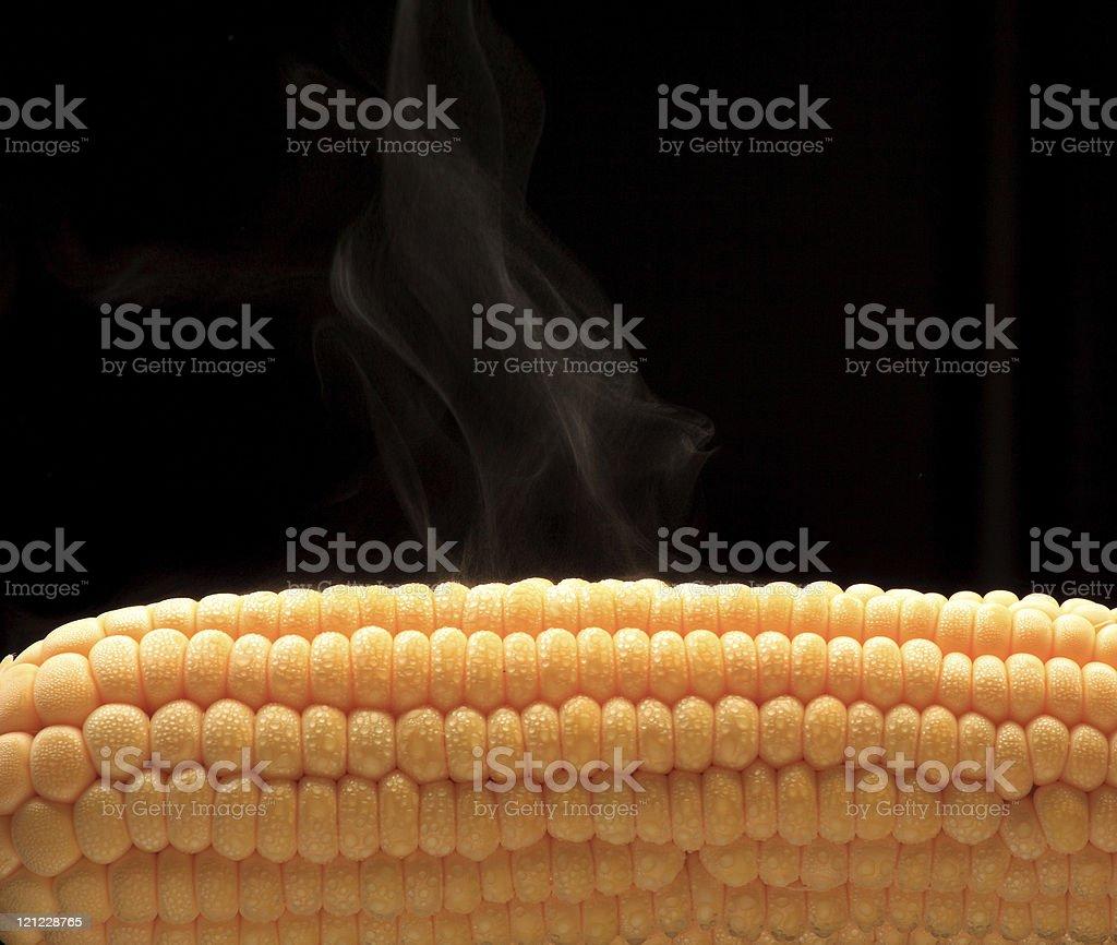 Steamy Corn royalty-free stock photo