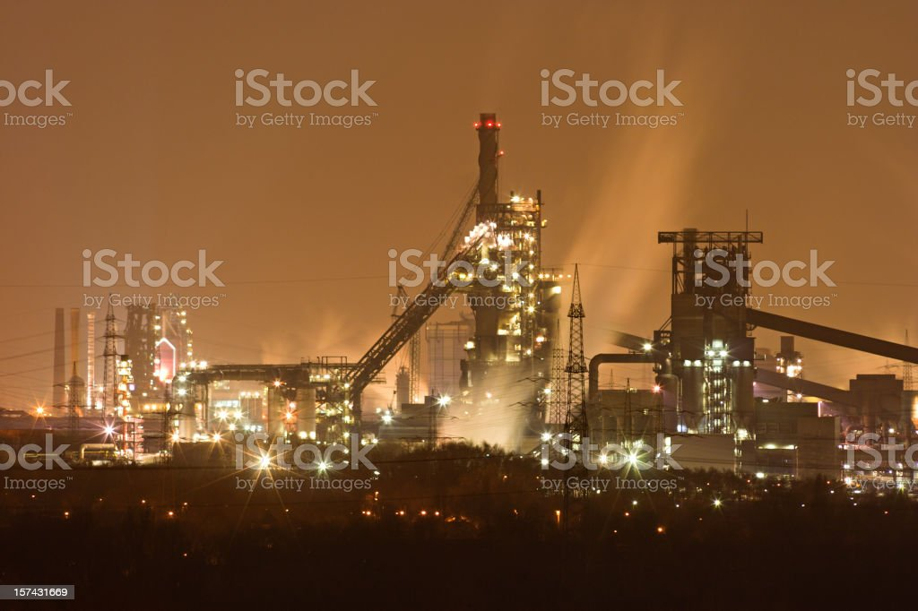 Steamy Steel Plant stock photo