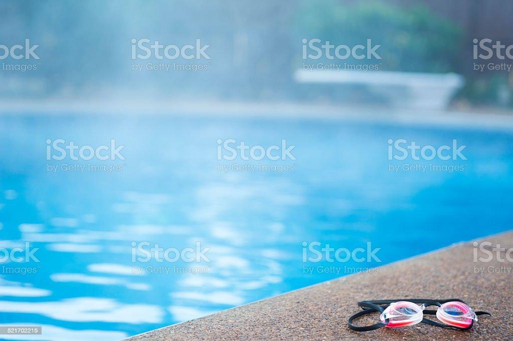 Steamy la piscina - foto de stock