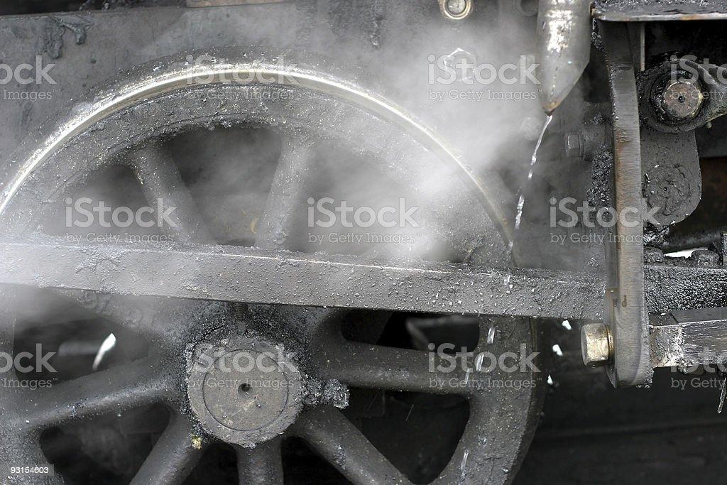 Steamy Wheel royalty-free stock photo