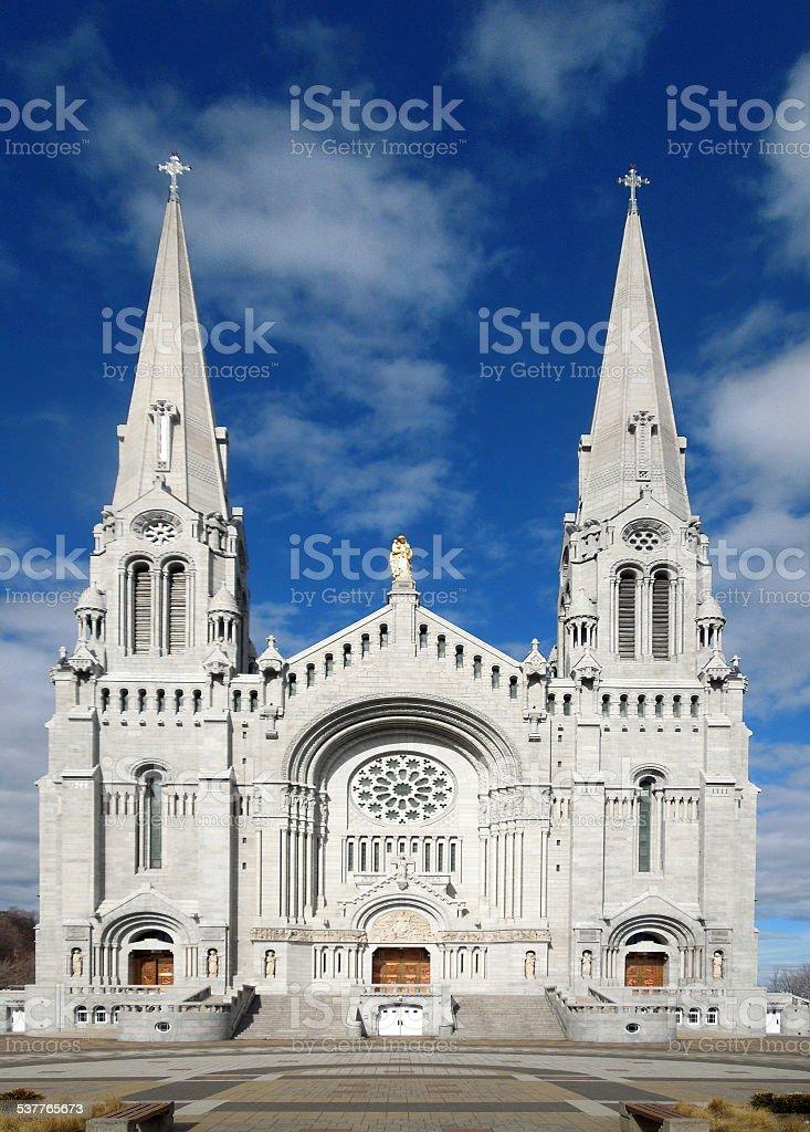 Ste-Anne-de-Beaupré cathedral, Quebec stock photo