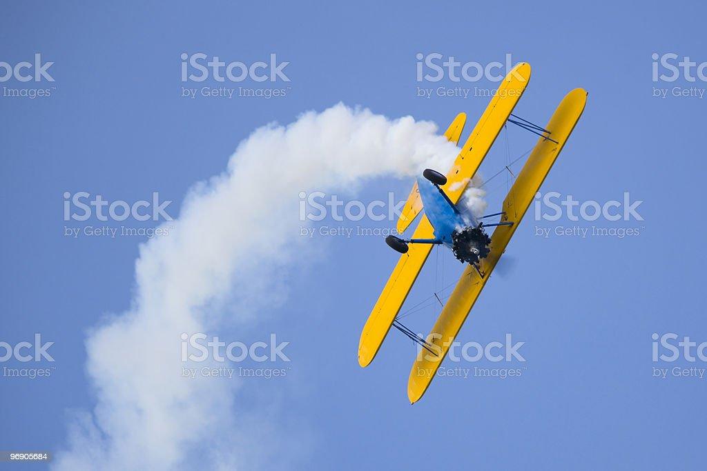 stearman aerobatic airplane royalty-free stock photo