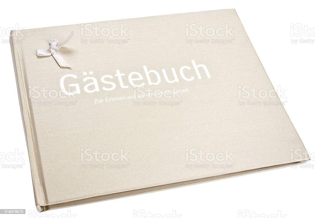 GäŠstebuch fŸür Hochzeit stock photo